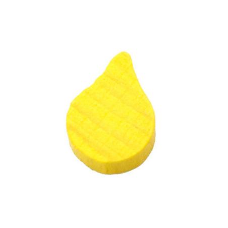 Jeton feuille goutte huile jaune -15 x 10 x 8 mm