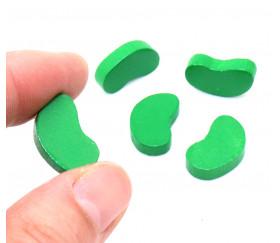 Pion de jeu graine haricot magique en bois vert