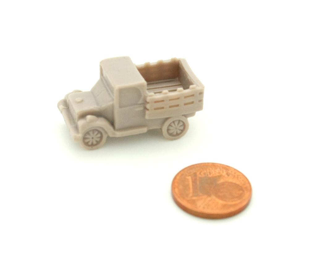 Pion camionnette voiture transport pickup 30 x 15 x 15 mm marron