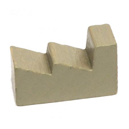 Pion usine grise en bois 25 x 15 x 10 mm pour jeu