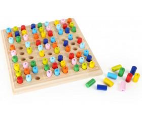 Jeu Sudoku en bois couleurs et chiffres