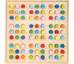 Sudoku en bois couleurs et chiffres
