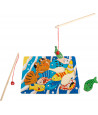 Puzzle bois poisson aimanté pour pêche
