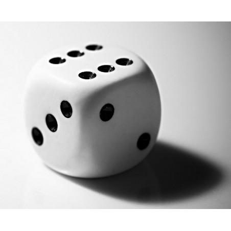 20 Dés à jouer blancs classiques 16mm de 1 à 6 pour jeu de société