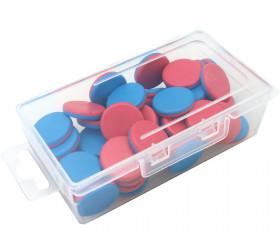 Boite plastique  transparente  rangement accessoire éducatif et jeux.