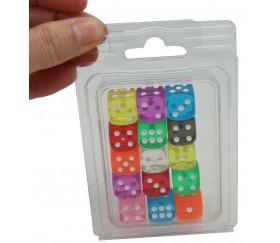 Boite plastique blister transparent pour ranger dés à jouer