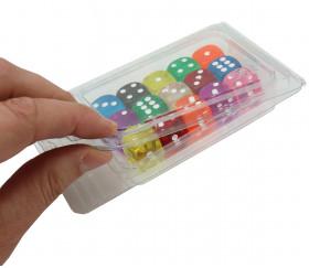 Boite plastique blister transparente pour ranger accessoires jeux.