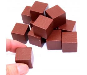 cube bois 2 cm marron pour jeux