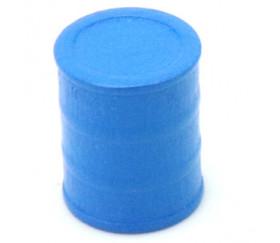 Jeton petit Tonneau bleu 15 x 17 mm baril bois