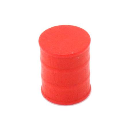 Jeton pion Tonneau rouge 15 x 17 mm baril pour jeu