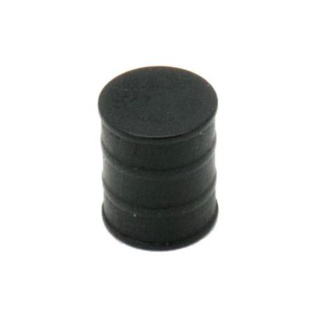 Jeton pion Tonneau noir 15 x 17 mm baril pour jeu