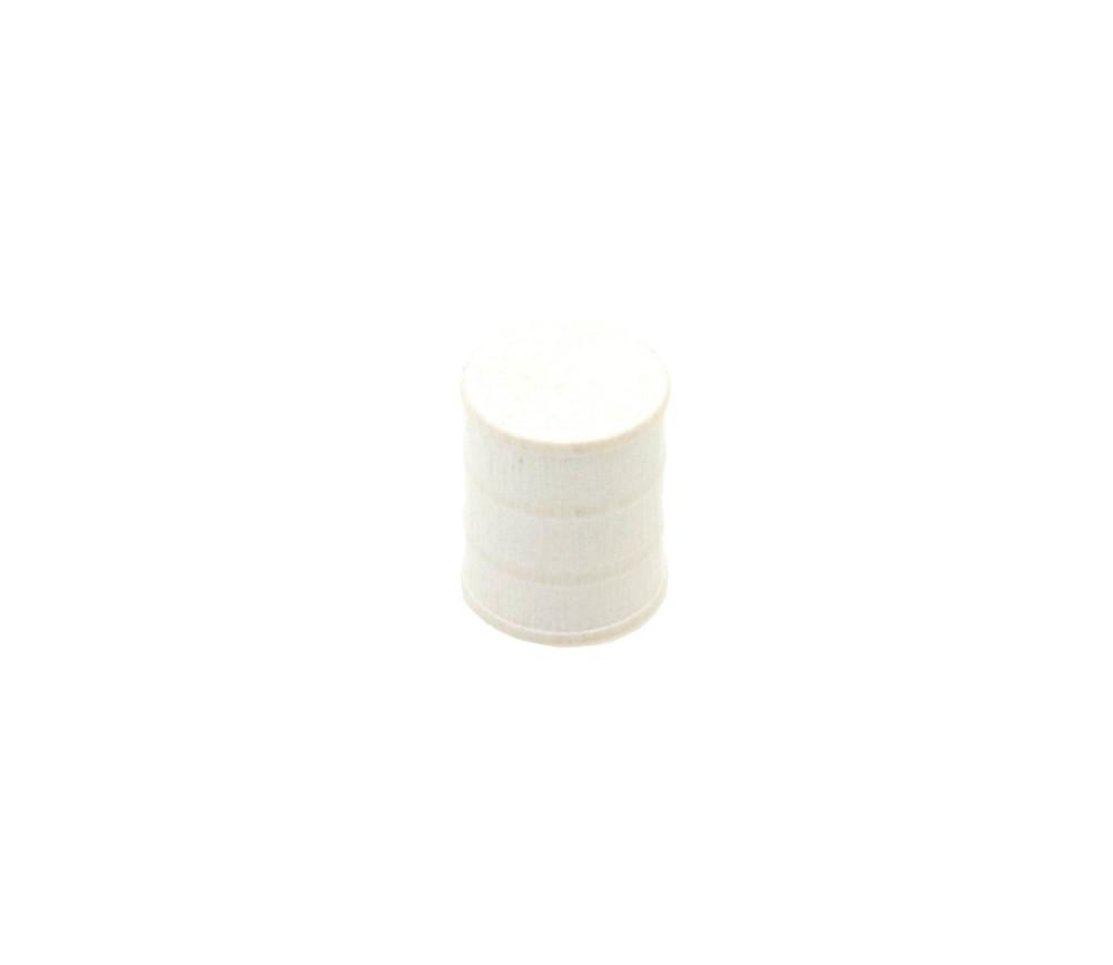 Jeton pion Tonneau blanc 15 x 17 mm baril pour jeu
