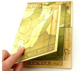 Plateau de jeu cartes au trésor recto verso 37 x 29 cm