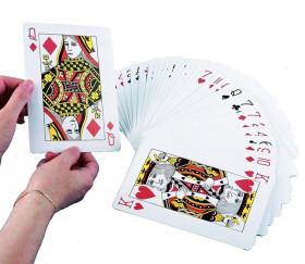 54 Cartes à jouer géante Jumbo 12 x 17 cm