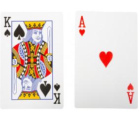 54 Cartes à jouer géante Jumbo XL pour jeux 21 x 14 cm