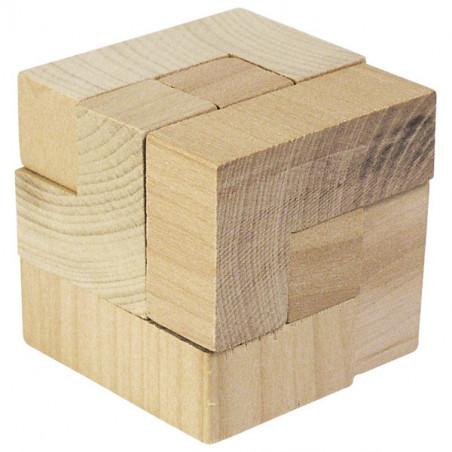 Cube magique en bois 4.2 cm - puzzle casse tête