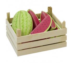 Pastèque en bois fruit vente tranche à l'unité