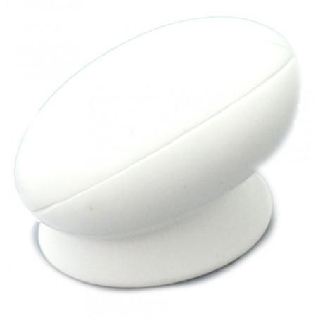Pion ballon de rugby blanc