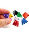 Dé 4 faces 1 à 4 opaques d4 pour jeux de rôle
