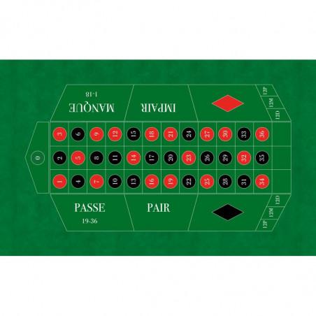 Tapis de jeu roulette française vert grand format pour jeu casino
