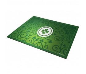 Tapis de cartes Chance Trèfle 40 x 60 cm vert