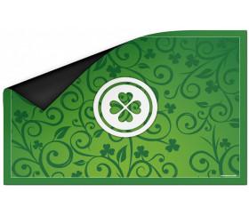 Tapis de cartes à jouer motif Chance Trèfle 40 x 60 cm vert