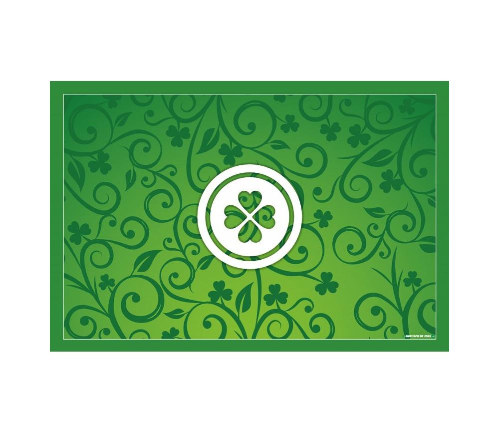 Tapis de cartes à jouer vert Belote 40 x 60 cm porte bonheur