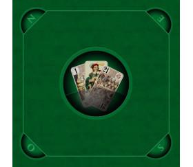 Tapis jeu Tarot 60 x 60 cm Les 3 bouts vert pour joueurs de cartes