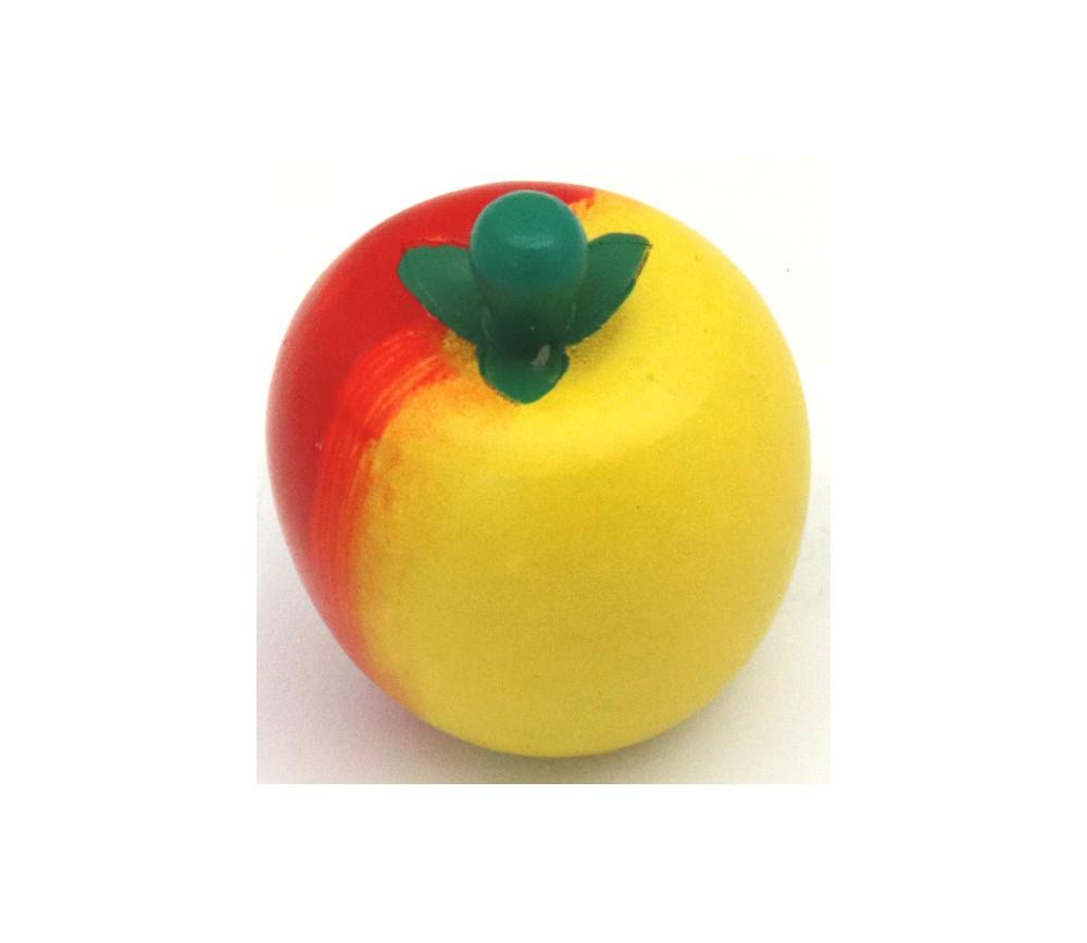 Pomme en bois 4 x 3.5 cm - jouet fruit