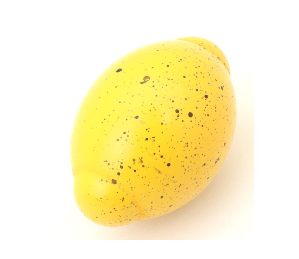 Citron jaune en bois 5 x 3,3 cm jouet fruit