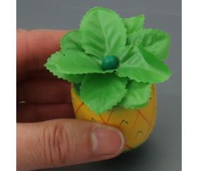 Petit ananas en bois jaune et vert - jouet fruit
