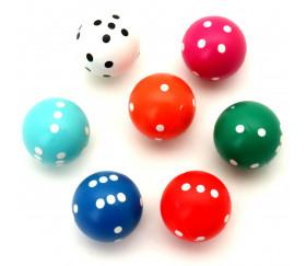 Dé à jouer rond de 20 mm de diamètre pour jouer boule