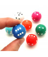 Dé de jeu rond 2 cm de diamètre pour jouer boule