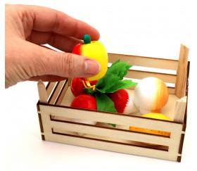 Caissette en bois 14 x 10 x 7.3 cm - mini cagette