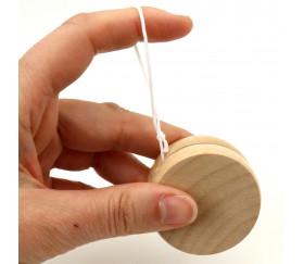 Yoyo en bois 5 cm jouet naturel à l'unité