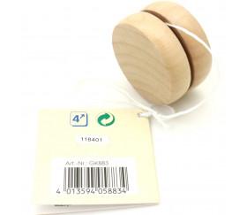 Yoyo en bois 5 cm traditionnel naturel à l'unité
