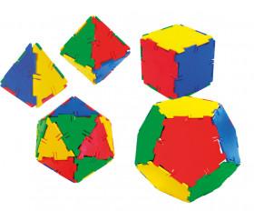 Construction en 3 dimensions - polyedres de Platon à construire.