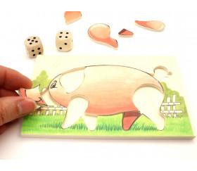 Jeu du Cochon avec dés à jouer - Jeu Français