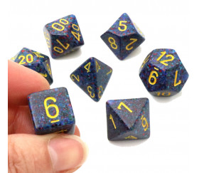 Set 7 dés multi-faces Twilight gamme chessex 25366