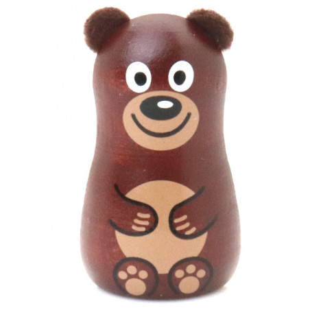 ours en bois magnet de 5 x 3 cm aimanté