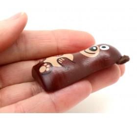 ours en bois magnet de 5 x 3 cm aimanté décoration