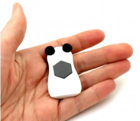 Panda en bois magnet de 5 x 3 cm animal aimanté