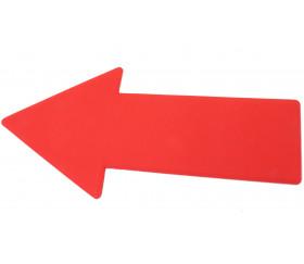 Flèche marquage au sol 34.5 x 16 cm rouge