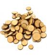 100 à 120 mini rondelles en bois brut avec écorce 1 à 3 cm de diamètre