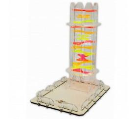Tour lanceur de dés Candy Twister plastique