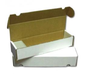 Boite rectangle 37.9 x 10.2 x 7.5 cm blanche longue pour cartes de jeux