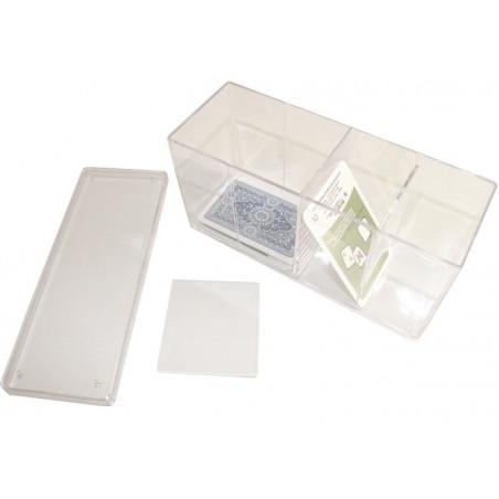Deck box - Boite 4 compartiments  plastique 20 x 9.5 x 6 cm