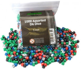 1000 mini dés à jouer 5 mm miniature