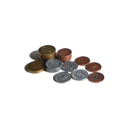 70 Pièces en métal numérotées valeur 1 5 10 clans of Caledonia