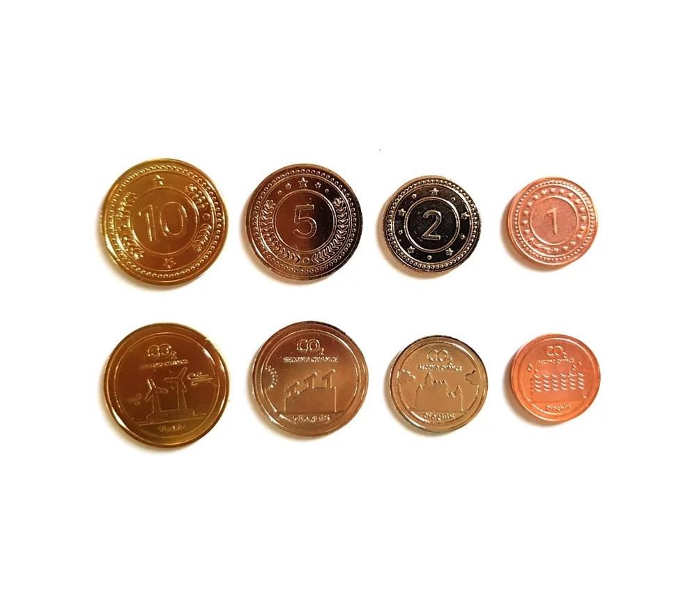 50 Pièces en métal numérotées 1 2 5 10 - jeu CO2 second chance